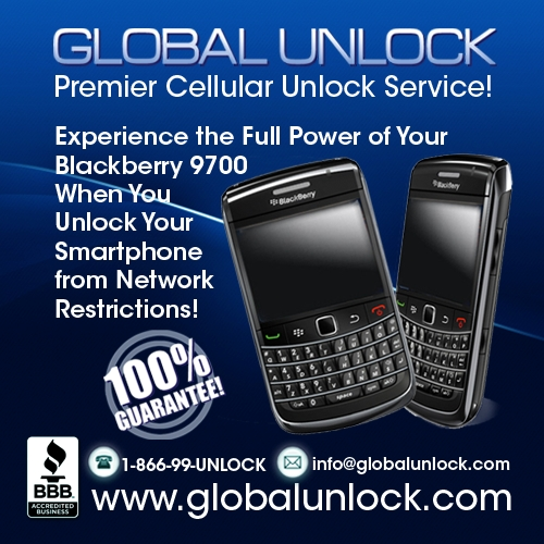 Product picture Vodafone UK Blackberry 9700 BOLD Unlock Instructions
