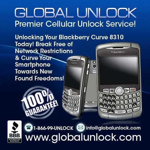 Product picture Blackberry 8310 Curve Unlock Instructions