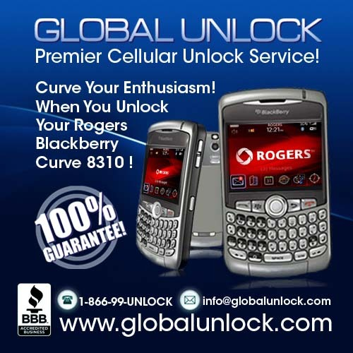 Product picture Rogers Blackberry 8310 Easy Unlock Instructions
