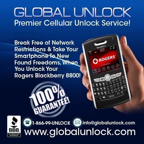 Product picture Rogers Blackberry 8800 Unlock Instructions