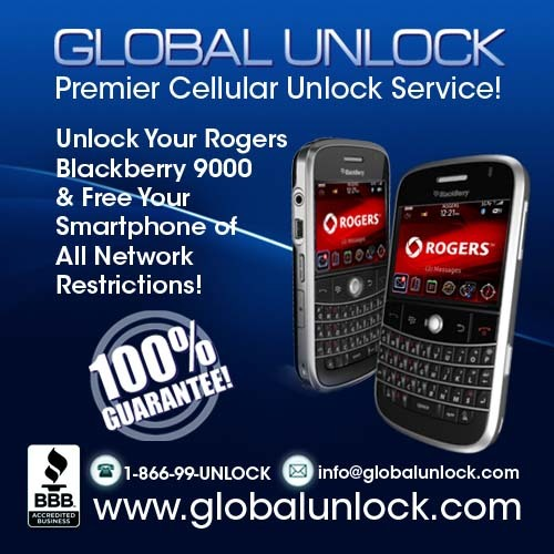 Product picture How To Unlock Rogers Blackberry 9000 BOLD Instructions